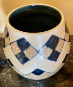 Charles Catteau Catteau Boch Freres Art Deco Geometric Stoneware Vase - 1369662