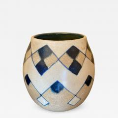 Charles Catteau Catteau Boch Freres Art Deco Geometric Stoneware Vase - 1373780