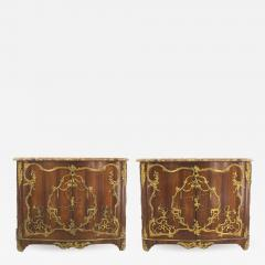 Charles Cressent Pair of French Louis XV Rosewood Commodes - 742066