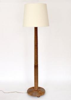 Charles Dudouyt CHARLES DUDOUYT FRENCH CARVED OAK FLOOR LAMP FRANCE CIRCA 1940 - 1955219