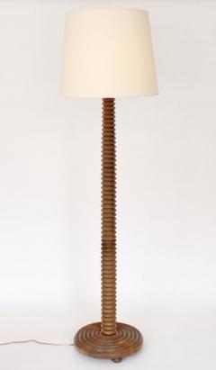 Charles Dudouyt CHARLES DUDOUYT FRENCH CARVED OAK FLOOR LAMP FRANCE CIRCA 1940 - 1955223