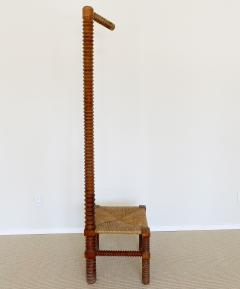 Charles Dudouyt CHARLES DUDOUYT SCULPTURAL FRENCH STOOL - 1979938