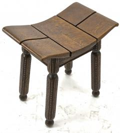 Charles Dudouyt Charles Dudouyit rarest oak carved stool - 910018