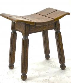Charles Dudouyt Charles Dudouyit rarest oak carved stool - 910019