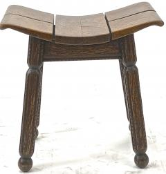 Charles Dudouyt Charles Dudouyit rarest oak carved stool - 910020