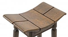 Charles Dudouyt Charles Dudouyit rarest oak carved stool - 910021