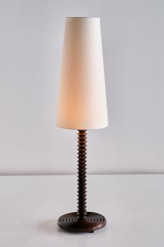 Charles Dudouyt Charles Dudouyt Floor Lamp in Carved Oak with Ivory Shade France 1940s - 1901122