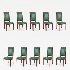 Charles Dudouyt Charles Dudouyt Set of Ten Dining Chairs - 1549851