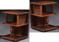 Charles Dudouyt Charles Dudouyt pair of oak sculpted pair of side table - 1714266