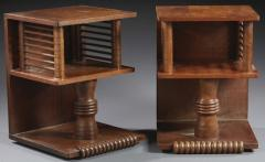 Charles Dudouyt Charles Dudouyt pair of oak sculpted pair of side table - 1714297