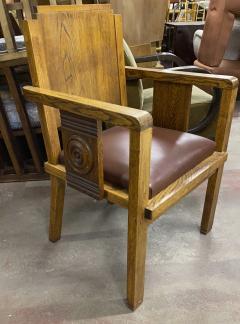 Charles Dudouyt Charles Dudouyt rarest oak carved captain chair - 1718829