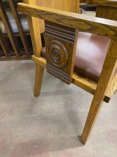 Charles Dudouyt Charles Dudouyt rarest oak carved captain chair - 1718830