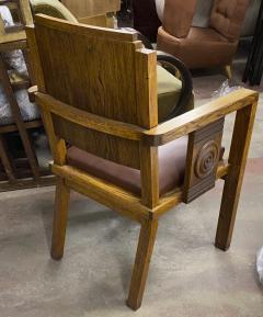 Charles Dudouyt Charles Dudouyt rarest oak carved captain chair - 1718831