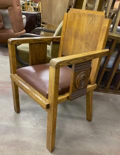 Charles Dudouyt Charles Dudouyt rarest oak carved captain chair - 1718832