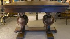 Charles Dudouyt Charles Dudouyt spectacular sphere shaped legs oak dinning table - 1767997