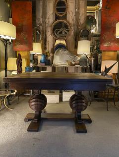 Charles Dudouyt Charles Dudouyt spectacular sphere shaped legs oak dinning table - 1768001