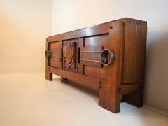 Charles Dudouyt Exceptional Sideboard in Solid Oak Signed Charles Dudouyt 1937 - 1061406