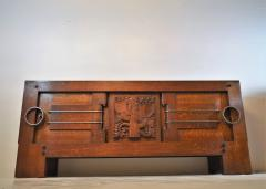 Charles Dudouyt Exceptional Sideboard in Solid Oak Signed Charles Dudouyt 1937 - 1061411