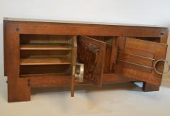 Charles Dudouyt Exceptional Sideboard in Solid Oak Signed Charles Dudouyt 1937 - 1061413