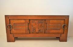 Charles Dudouyt Exceptional Sideboard in Solid Oak Signed Charles Dudouyt 1937 - 1061414