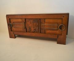Charles Dudouyt Exceptional Sideboard in Solid Oak Signed Charles Dudouyt 1937 - 1061415