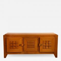 Charles Dudouyt LARGE OAK SCULPTED FRONT SIDEBOARD BY CHARLES DUDOUYT - 1815779