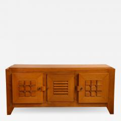 Charles Dudouyt Large oak sculpted front sideboard by Charles Dudouyt - 1454830