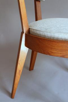 Charles Dudouyt Set of Four Fine French Art Deco Oak Chairs by Charles Dudouyt - 415217