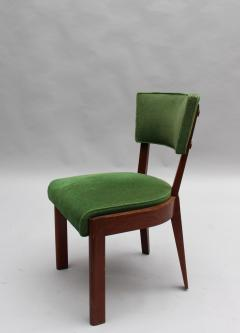 Charles Dudouyt Set of Six Fine French Art Deco Oak Chairs by Charles Dudouyt - 430878