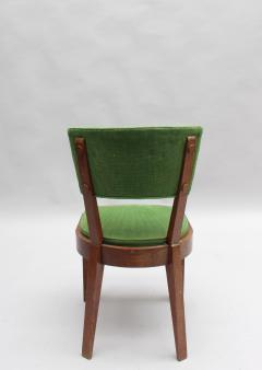 Charles Dudouyt Set of Six Fine French Art Deco Oak Chairs by Charles Dudouyt - 430879