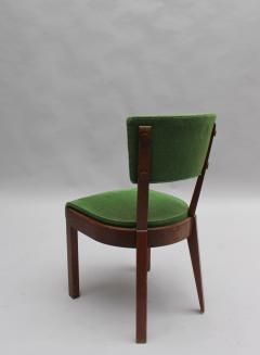 Charles Dudouyt Set of Six Fine French Art Deco Oak Chairs by Charles Dudouyt - 430881
