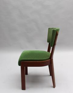 Charles Dudouyt Set of Six Fine French Art Deco Oak Chairs by Charles Dudouyt - 430882