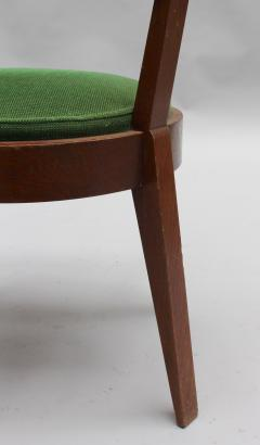 Charles Dudouyt Set of Six Fine French Art Deco Oak Chairs by Charles Dudouyt - 430885