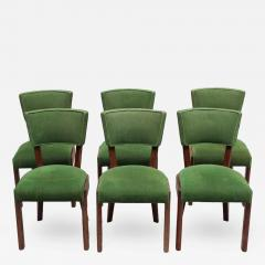 Charles Dudouyt Set of Six Fine French Art Deco Oak Chairs by Charles Dudouyt - 432161