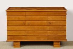 Charles Dudouyt Three door oak chest - 1165281