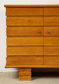 Charles Dudouyt Three door oak chest - 1165284