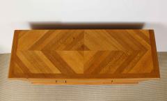 Charles Dudouyt Three door oak chest - 1165285