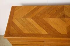 Charles Dudouyt Three door oak chest - 1165287