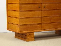 Charles Dudouyt Three door oak chest - 1165288