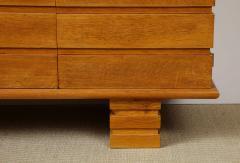 Charles Dudouyt Three door oak chest - 1165290