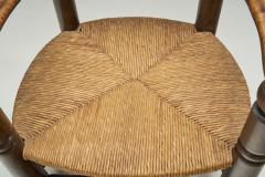 Charles Dudouyt Wood and Wicker Turned Chairs by Charles Dudouyt France 1940s - 2078909