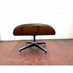 Charles Eames 1970s Black Leather Eames Ottoman 671 - 1753944