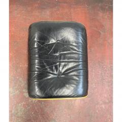 Charles Eames 1970s Black Leather Eames Ottoman 671 - 1753945