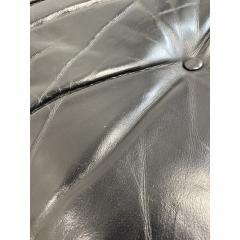 Charles Eames 1970s Black Leather Eames Ottoman 671 - 1753947