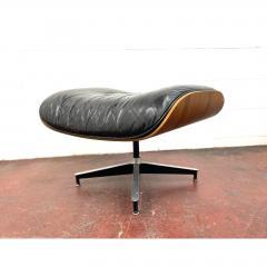 Charles Eames 1970s Black Leather Eames Ottoman 671 - 1753963
