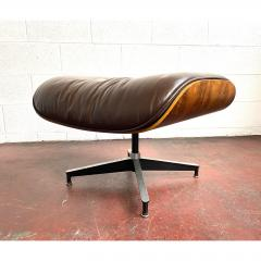 Charles Eames 1970s Brown Leather Eames Ottoman 671 - 1753971