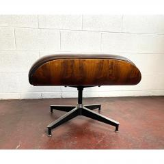 Charles Eames 1970s Brown Leather Eames Ottoman 671 - 1753972