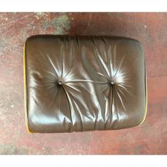 Charles Eames 1970s Brown Leather Eames Ottoman 671 - 1753988
