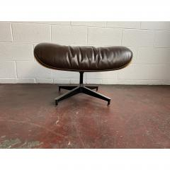Charles Eames 1970s Brown Leather Eames Ottoman 671 - 1753989