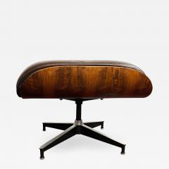 Charles Eames 1970s Brown Leather Eames Ottoman 671 - 1754155